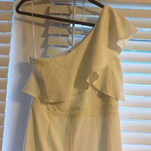 Dresses & Skirts - NWT One Shoulder White Jumpsuit